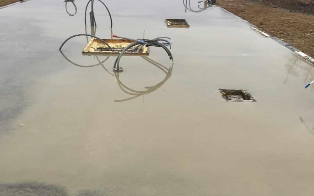 Jo, man kan godt støbe fundament i sne og regn